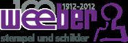 Weeber Stempel und Schilderfabrik 100 Jahre-Logo